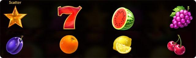 фрукты символы