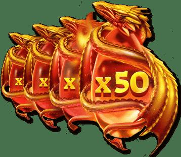 драконы множители ставки x50